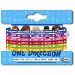 bracciale gomma multicolor ONE DIRECTION
