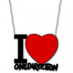 ciondolo cuore I love ONE DIRECTION in metallo