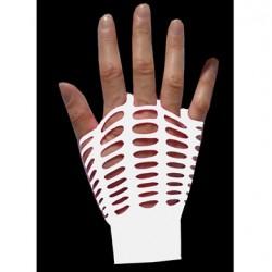guanti rete larga bianco