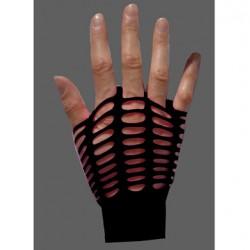 guanti rete larga nero