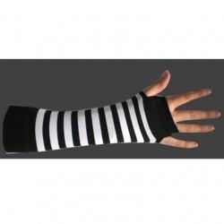 manicotto righe bianco e nero
