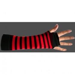 manicotto righe rosso e nero