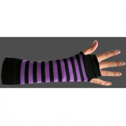 manicotto righe viola e nero