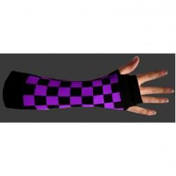 manicotto scacchi viola e nero
