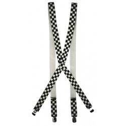 bretella scacchi bianco e nero
