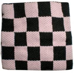 polsino scacchi rosa e nero