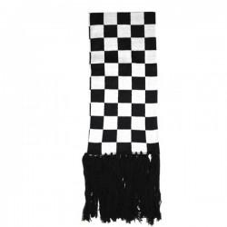 sciarpa scacchi bianco e nero