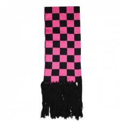 sciarpa scacchi fucsia e nero