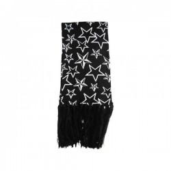 sciarpa nera con stelle bianche