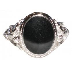 anello pietra nera classico