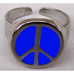 anello pace blu smaltata