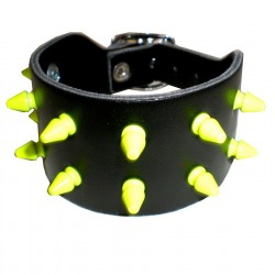 bracciale mini killer fluo giallo 2 file