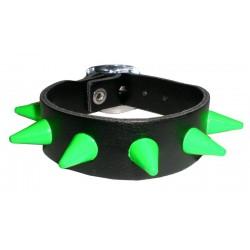 bracciale cm 1,3 fluo verde 1 fila