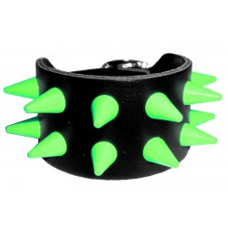 bracciale cm 1,3 fluo verde 2 file