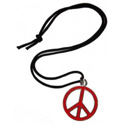 ciondolo pace media rosso
