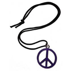 ciondolo pace media viola