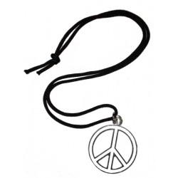 ciondolo pace media bianco