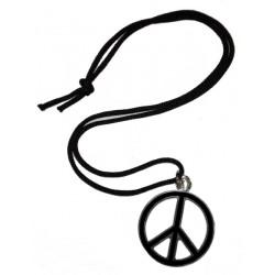 ciondolo pace media nero