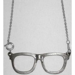 ciondolo occhiali argento con catena