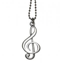 ciondolo chiave di violino con catena