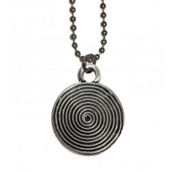 ciondolo spirale con catena