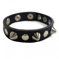 bracciale cono argento con bottoni e rivetti