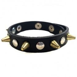 bracciale mini 1,3 cm oro con bottoni e rivetti