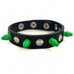 bracciale mini killer verde con bottoni e rivetti
