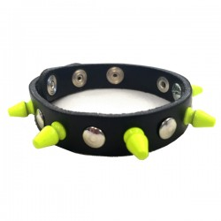 bracciale mini killer giallo con bottoni e rivetti