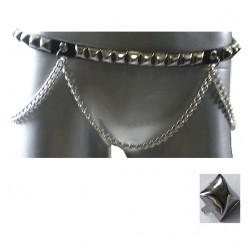 cintura piramide 1 fila con catena
