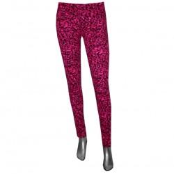 leggings leopardati fucsia