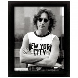 Cornice in 3D John Lennon NYC Bob Gruen