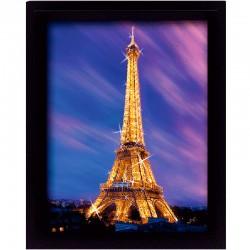 Cornice in 3D Parigi Tour Eiffel al tramonto