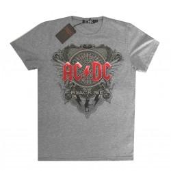 AC DC maglia ufficiale album Black ice grigio chiaro