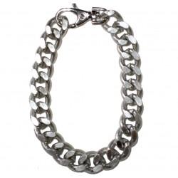 collare catena argento grande