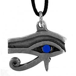 ciondolo occhio di horus con pietra blu