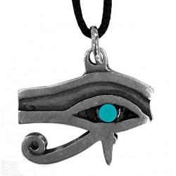 ciondolo occhio di horus con pietra azzurra