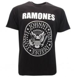 t-shirt ufficiale ramones logo bianco