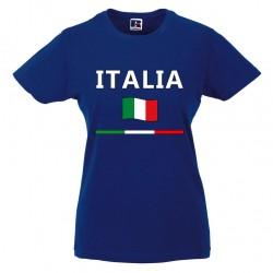 t-shirt italia donna itl08 blu royal