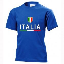 t-shirt italia bimbo itb05 blu royal