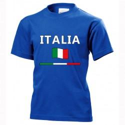t-shirt italia bimbo itb08 blu royal