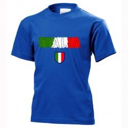 t-shirt italia bimbo itb11 blu royal