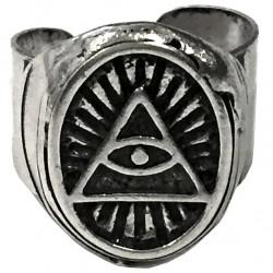 anello illuminati triangolo ovale