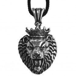 ciondolo leone con corona d672