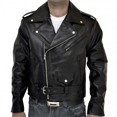 innovative design dda36 a2c67 chiodo giubbotto in vera pelle brando jacket - FLASH SRL