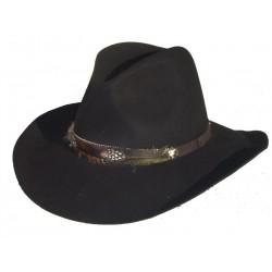 cappello cowboy nero morbido