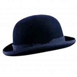 cappello bombetta blu