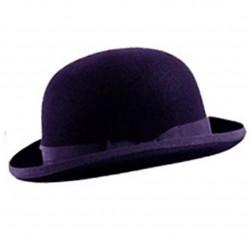 cappello bombetta viola
