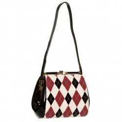 ELEANOR HANDBAG BG7111 BURGUNDY BLACK