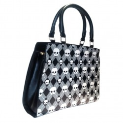 ANGUS HANDBAG BG7116 BLACK WHITE